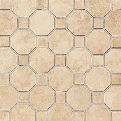 Daltile Salerno Mosaic Octagon w/Dot Nubi Bianche Tile & Stone