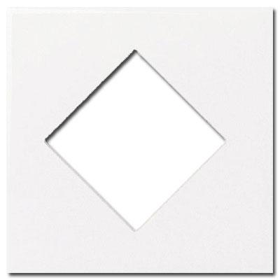 Daltile Fashion Accents Semi-Gloss Inserts Diamond Artic White 4 x 4 Tile & Stone
