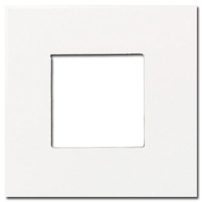 Daltile Fashion Accents Semi-Gloss Inserts Square Artic White 4 x 4 Tile & Stone