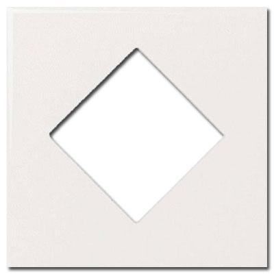 Daltile Fashion Accents Semi-Gloss Inserts Diamond White 4 x 4 Tile & Stone