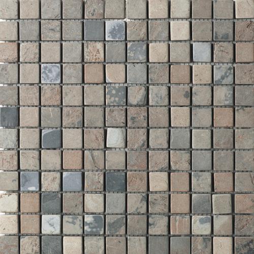 Daltile Slate Collection - 1 x 1 Mosaic Autumn Mist Tile & Stone