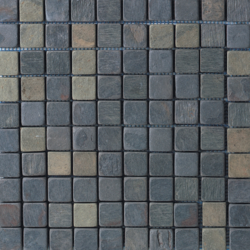 Daltile Slate Collection - 1 x 1 Mosaic Indian Multicolor Tile & Stone