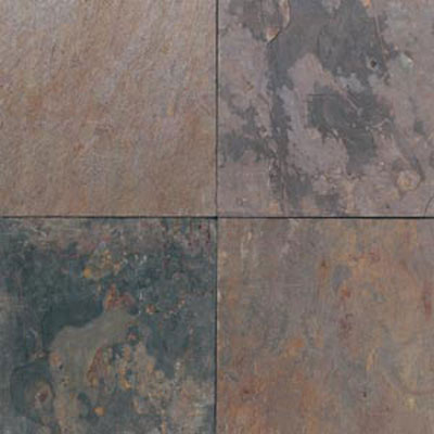 Daltile Slate Collection - Imported 16 X 16 Indian Multicolor Tile & Stone