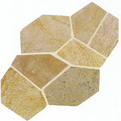 Daltile Slate Collection - Patterned Flagstone Golden Sun Tile & Stone