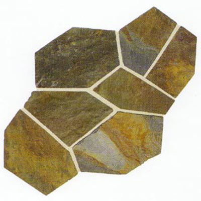 Daltile Slate Collection - Patterned Flagstone Mongolian Spring Tile & Stone