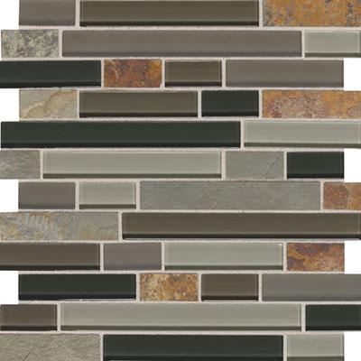 Daltile Fashion Accents Slate Radiance 1 x Random Mosaic SA55 Flint Tile & Stone