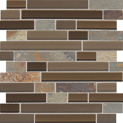 Daltile Fashion Accents Slate Radiance 1 x Random Mosaic SA56 Saddle Tile & Stone