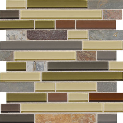 Daltile Fashion Accents Slate Radiance 1 x Random Mosaic SA57 Cactus Tile & Stone