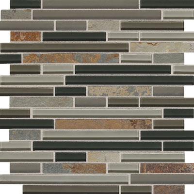 Daltile Fashion Accents Slate Radiance 5/8 x Random Mosaic SA55 Flint Tile & Stone