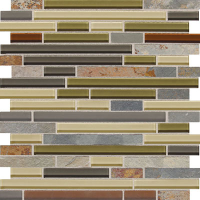 Daltile Fashion Accents Slate Radiance 5/8 x Random Mosaic SA57 Cactus Tile & Stone