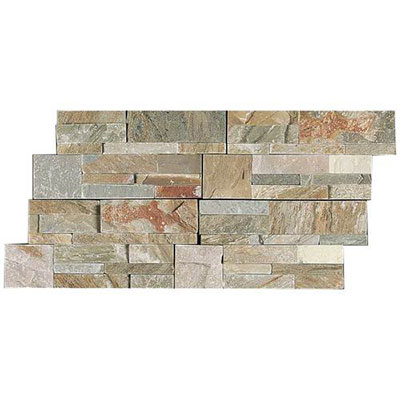 Daltile Slate Collection - Slate Stacked Stone Golden Sun Tile & Stone
