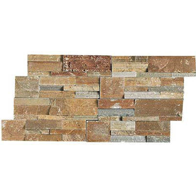 Daltile Slate Collection - Slate Stacked Stone Shanghai Rust Tile & Stone
