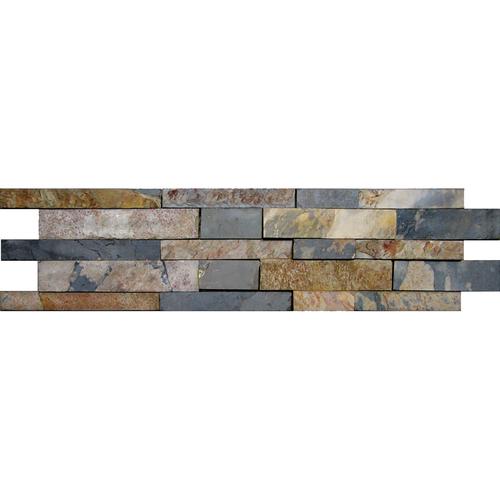 Daltile Slate Collection - Unique Shapes Autumn Mist 4 x 16 Tile & Stone