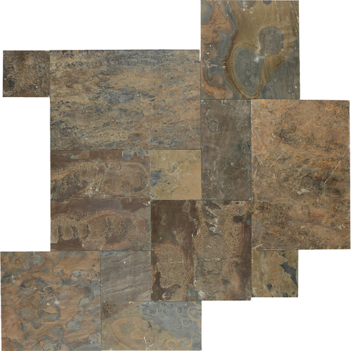 Daltile Slate Collection - Versailles Pattern Mosaic California Gold Tile & Stone