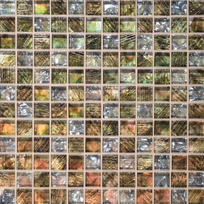 Daltile Soiree 1 x 1 Glass Mosaic Nevis Tile & Stone
