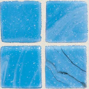 Daltile Sonterra Collection Mosaic Cancun Blue Opalized Tile & Stone