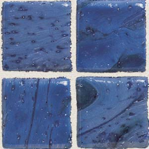 Daltile Sonterra Collection Mosaic Navy Blue Opalized Tile & Stone