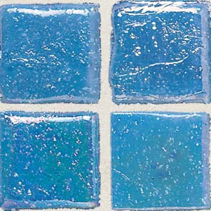 Daltile Sonterra Collection Mosaic Cancun Blue Iridescent Tile & Stone
