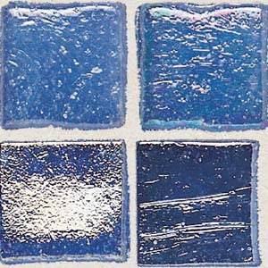 Daltile Sonterra Collection Mosaic Crystal Blue Iridescent Tile & Stone