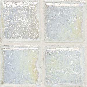 Daltile Sonterra Collection Mosaic Ice White Iridescent Tile & Stone