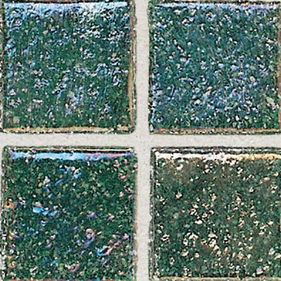 Daltile Sonterra Collection Mosaic Emerald Irridescent Tile & Stone