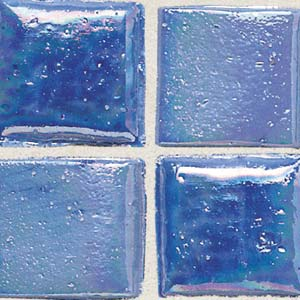 Daltile Sonterra Collection Mosaic Medium Blue Iridescent Tile & Stone