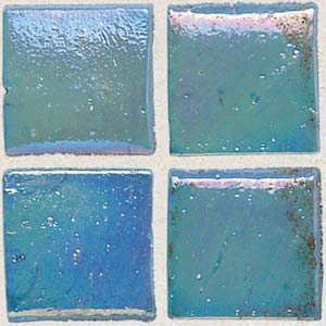 Daltile Sonterra Collection Mosaic Azul Verde Iridescent Tile & Stone