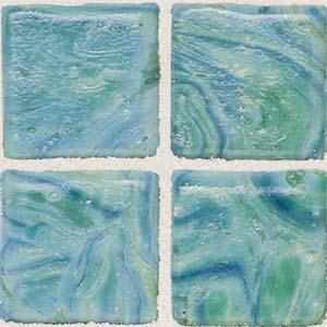 Daltile Sonterra Collection Mosaic Verde Iridescent Tile & Stone