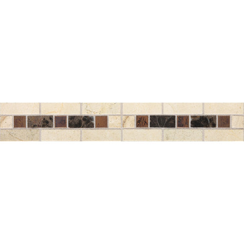 Daltile Fashion Accents Stone Combinations FA09 Burnished Honed Dark Tile & Stone