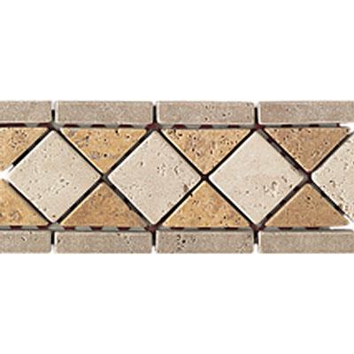 Daltile Stone Decorative Borders Antalya Dark / Sienna Gold / Mediterranean Ivory Tile & Stone
