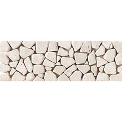 Daltile Stone Decorative Borders Baja Cream Pebble Tumbled Tile & Stone