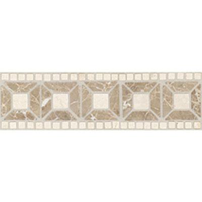 Daltile Stone Decorative Borders Emperador Light / Crema Marfil Tile & Stone