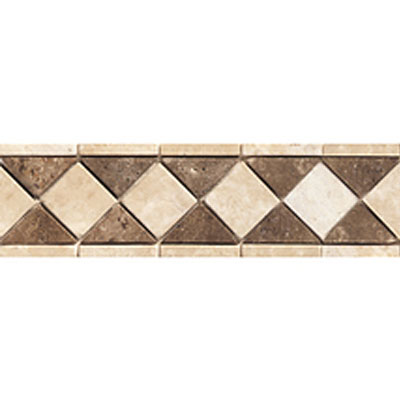 Daltile Stone Decorative Borders Sand / Walnut Diamond Tile & Stone