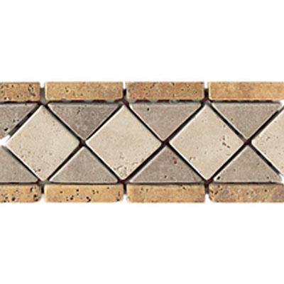 Daltile Stone Decorative Borders Sienna Gold / Antalya Dark / Mediterranean Ivory Tile & Stone