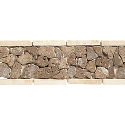 Daltile Stone Decorative Borders Walnut Pebble Tile & Stone
