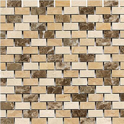 Daltile Stone Decorative Mosaics Adda Blend Brick Joint Polished Tile & Stone