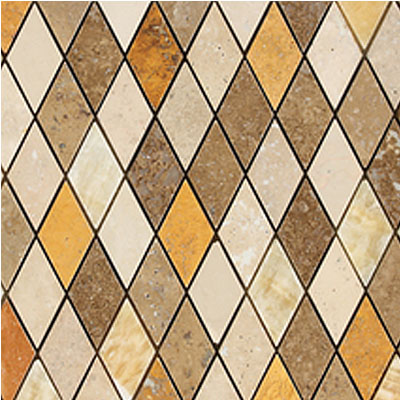 Daltile Stone Decorative Mosaics Tevere Harlequin Blend Mosiac Polished and Honed Tile & Stone