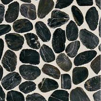Daltile Stone Decorative Pebble Mosaics Black River Pebble Mosaic Tile & Stone