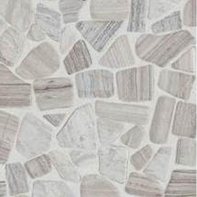 Daltile Stone Decorative Pebble Mosaics Chenille White River Pebble Mosaic Tumbled Tile & Stone