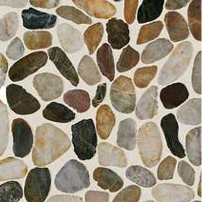 Daltile Stone Decorative Pebble Mosaics Earthy Blend River Pebble Mosaic Tile & Stone