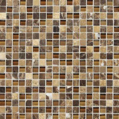 Daltile Stone Radiance Mosaic Butternut Emperador Blend Tile & Stone