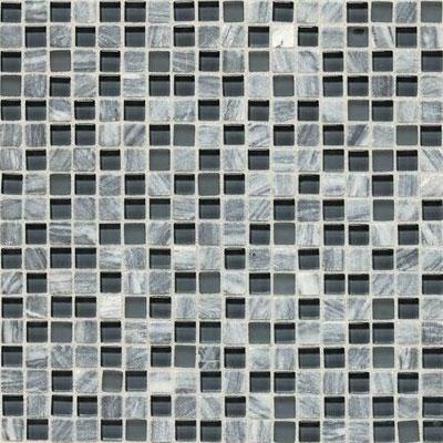 Daltile Stone Radiance Mosaic Glacier Gray Marble Blend Tile & Stone