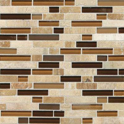 Daltile Stone Radiance Mosaic Caramel Travertino Blend Random Tile & Stone