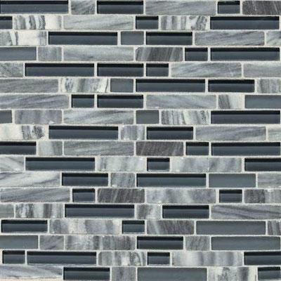 Daltile Stone Radiance Mosaic Glacier Gray Marble Blend Random Tile & Stone