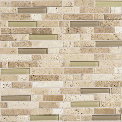 Daltile Stone Radiance Mosaic Mushroom/Morning Sun Blend Random Tile & Stone