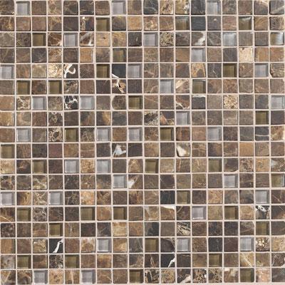 Daltile Stone Radiance Mosaic Wisteria Tortoise Blend Tile & Stone