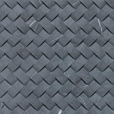 Daltile Stone a la Mod Mosaics Basketweave Honed - Nouveau Nero Tile & Stone