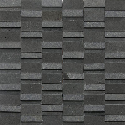 Daltile Stone a la Mod Mosaics High/Low Polished and Honed - Urban Bluestone Tile & Stone