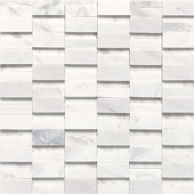Daltile Stone a la Mod Mosaics High/Low Polished and Honed - Contempo White Tile & Stone