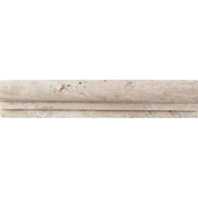 Daltile Travertine Natural Stone Honed Chair Rail Baja Cream Tile & Stone